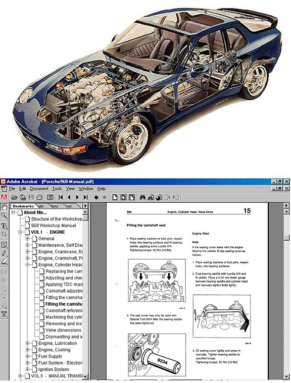 porsche 968 complete workshop manual on cd