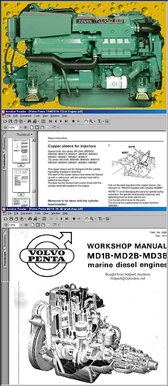 VOLVO PENTA Diesel WORKSHOP Manuals on CD on ford engine diagrams